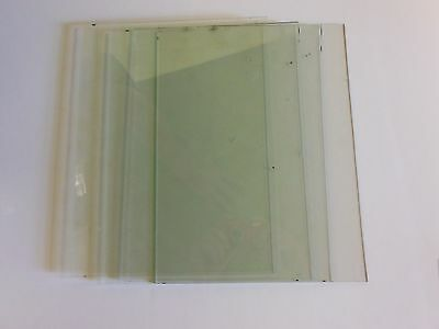 4-PIECES OF ANTIQUE WAVY GLASS 8'' X 10'' OR 9'' X 12 to replace glass in clock