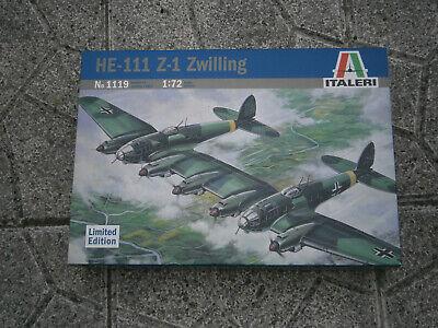 MAQUETTE AVION WW2 DOUBLE HEINKEL HE-111 Z1 ZWILLING ITALERI N°1119 1/72