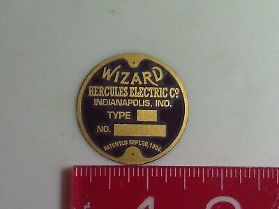 Wizard Magneto Name Tag Reproduction Nameplate