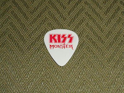 KISS PAUL STANLEY MONSTER RARE RED LOGO AND RED FOIL SIGNATURE GUITAR PICK!