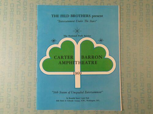 Carter Barron Amphitheatre program, DC 1969, Dionne Warwick, Stevie Wonder