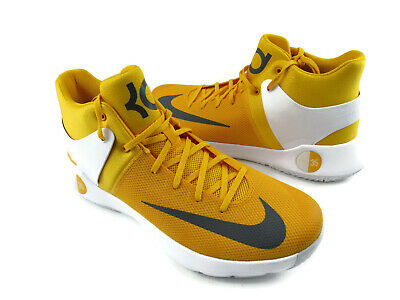 new product 8ff17 8ea35 Nike KD TREY 5 IV Yellow Mens Basketball Shoes Style 856484-771 Size 18 New