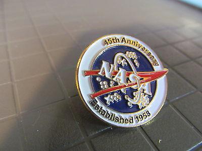 NASA 45th ANNIVERSARY   LAPEL PIN
