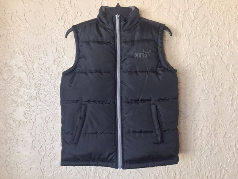 PUMA Boys Quilted Vest S Reversible