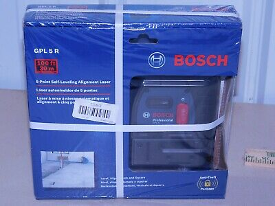 BOSCH GPL5R 100-FT 5-POINT SELF-LEVELING ALIGNMENT LASER *NEW* -(EB86)