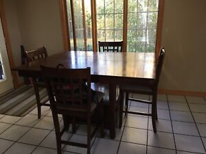 Counter height table and 8 chairs!