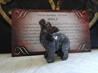*WOLF* Carved Stone Figurine Totem Buy 3 Get 1 FREE Wiccan Pagan Familiar