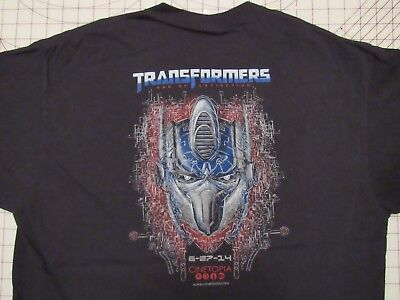 TRANSORMERS Age Of Extinction T-SHIRT Mens XL Cinetopia Theater Promo Exclusive