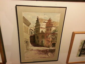 Original Watercolour by Listed California Artist Meyer Kaufman