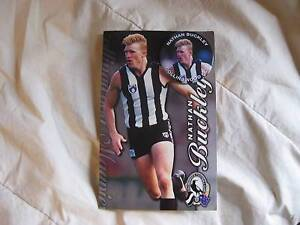COLLINGWOOD/ Nathan Buckley - B'day/ Xmas Card with Badge - MINT Brunswick East Moreland Area Preview