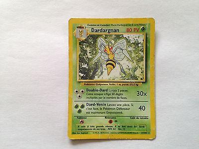 Carte Pokémon Dardargnan Rare set de base 17/102
