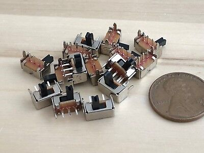 15 Pieces Mini Spdt Slide Switch Yt1998 Sk12d07 Sk12d07vg4 3pin On Off Pcb C28