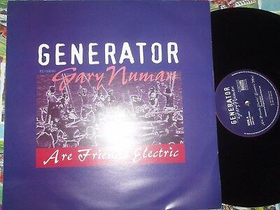 "Generator Gary Numan Are Friends Electric JVO Recs JVOT 001 UK Vinyl 12"" Single"