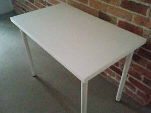Ikea White Table Top Desk-100cm x 60cm-with adjustable legs-$60 Westmead Parramatta Area Preview