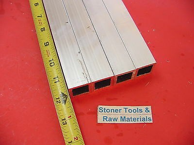 4 Pieces 1x 1x 116 Wall 12 Long Aluminum Square Tube 6063 T52 1sq X .062