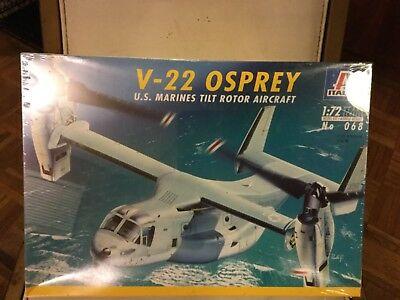 Italeri V-22 Osprey US Marines Tilt Rotor Aircraft 1/72 scale Model Kit for sale  Dwight