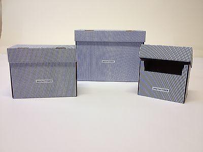 5 Karteikästen A6 Papiertiger faltb. Design ws-bl Karton für 300 Karteikarten