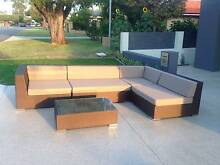 Bronze 6-seater outdoor lounge and coffee table. West Perth Perth City Preview