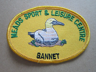 Meads Sport & Leisure Centre Gannet Woven Cloth Patch Badge