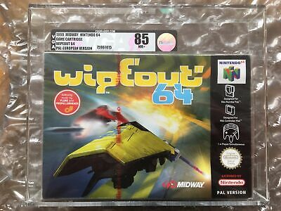 BRAND NEW FACTORY SEALED WIPEOUT 64 FOR NINTENDO N64 VGA / UKG GRADED 85 MIDWAY