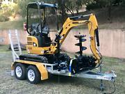Mini Excavator and Bobcat Trailer Mackay Mackay City Preview