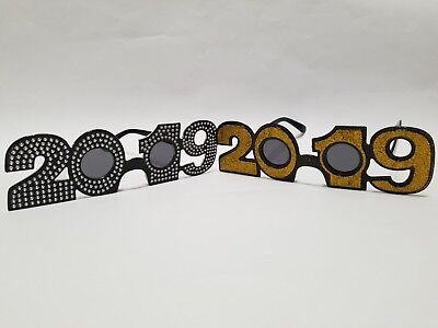2  Pair New Years Eve Glasses 2019 Party Happy New year glasses  (Happy New Year Glasses)