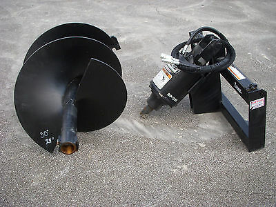 Bobcat Skid Steer Attachment - Lowe Bp210 Round Auger With 30 Bit - Ship 199