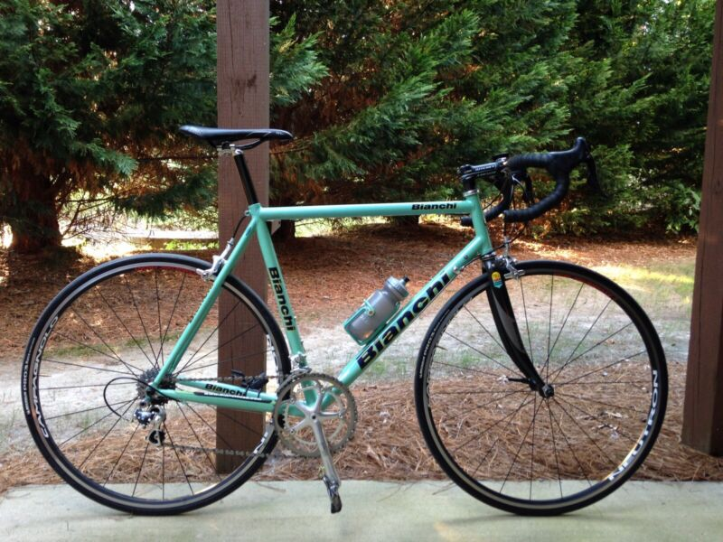 Bianchi XL Titanium Frame Carbon fork Campagnolo Record headset 59 57.5 Colnago