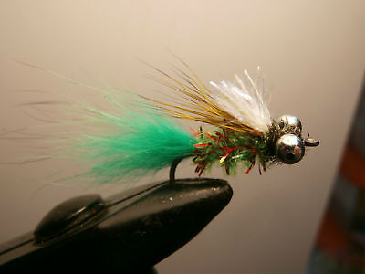 1 DOZEN GREEN,RED AND WHITE STREAMERS FOR FLY FISHING (STRE-6) (Red And White Streamers)