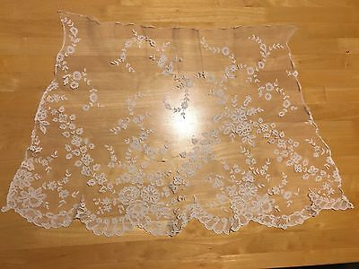 Antique Vintage 17th 18th 19th Century Dress Brussels? Lace Flounce