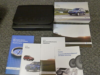 2014 Subaru Forester SUV Owner Manual Premium CVT Limited Touring 2.0XT 2.5i