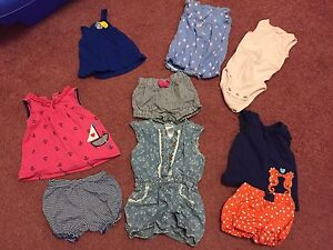0-3month baby girls outfits and sleepers