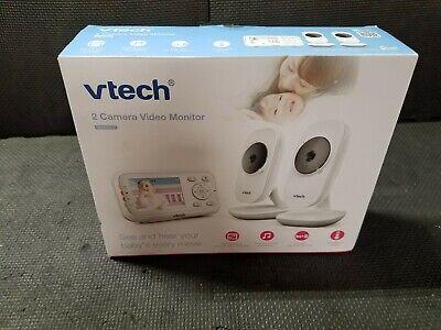 """VTech Video Baby Monitor with 2 Cameras and 2.8"""" Screen Size (VM3252-2) B118"""