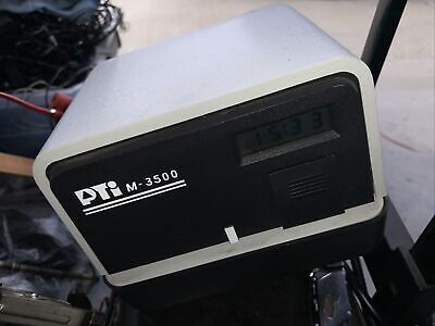 Pti Pyramid M3500 Electronic Time Stamp Recorder As Is Powers On No Ink No Key