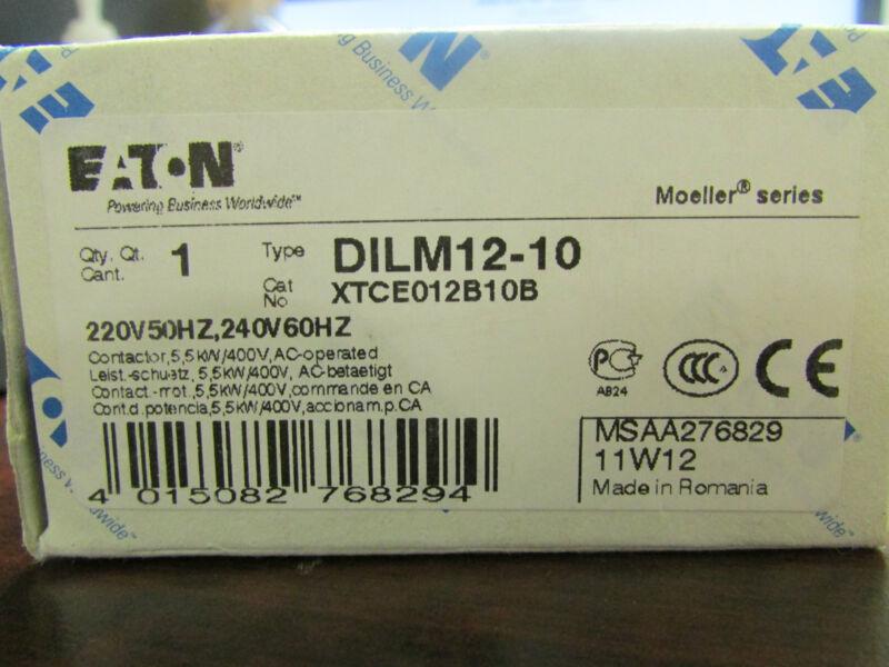 Eaton Klockner Moeller  DILM12 10   XTCE012B10B Contactor 220 V