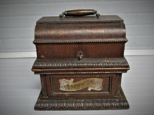 Antique Columbia Graphophone Deluxe Oak Case 1902 Model AO  Case Only Very Nice!