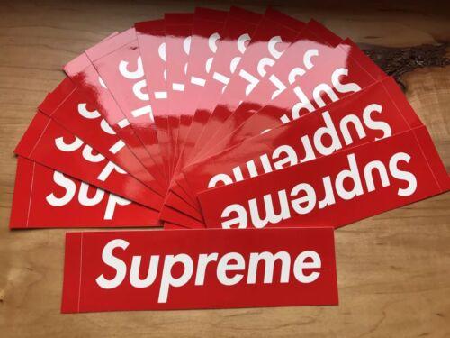 Supreme box logo sticker classic red 100 authentic bogo