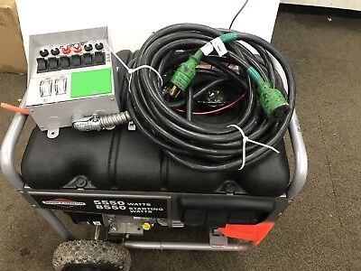 Briggs Stratton Portable Home Backup Generator Only - Used 5550 Generator