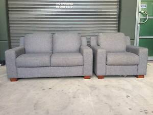 PLUSH BERLIN 2 SEATER SOFA PLUS ARMCHAIR - ORP $2599 AS NEW COND. Strathfield Strathfield Area Preview
