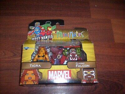 MARVEL MINIMATES AVENGERS TIGRA & CLASSIC FALCON 2 FIGURE BOX SET - Avengers 2 Falcon