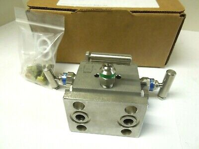 Parker M-650sct 3-valve Manifold 12 Npt X Flange 316 Stainless 10000 Psi 243nw