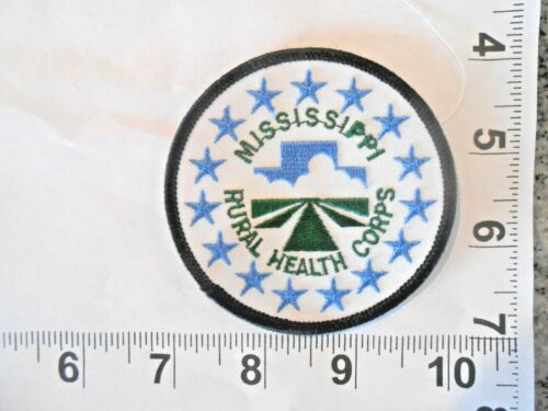 """Mississippi Rural Health Corps Patch - 3"""" x 3""""  iron on patch with FREE shipping"""