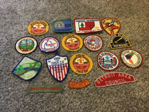 Vintage Boy Scouts of America BSA Patches 1960's& 70's -Lot of 17