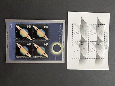 GB 1999, 2000 two MNH mini stamp sheets