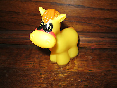 Fisher Price Little People PUMPKIN Party Farm Animal Horse Pony Halloween Mask  - People Halloween Masks
