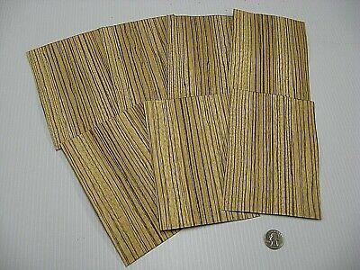1 Lot Of 7pcs Quartered Zebrawood Zebrano Raw Veneer Shorts Lot 1114