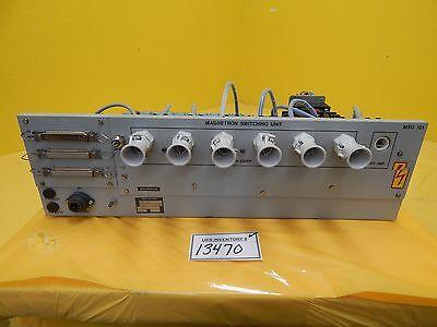 Balzers Bg M52 000 Rack Mount Magnetron Switching Unit Msu 101 Used Working