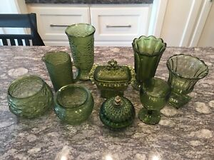 Beautiful Green Coloured Glassware
