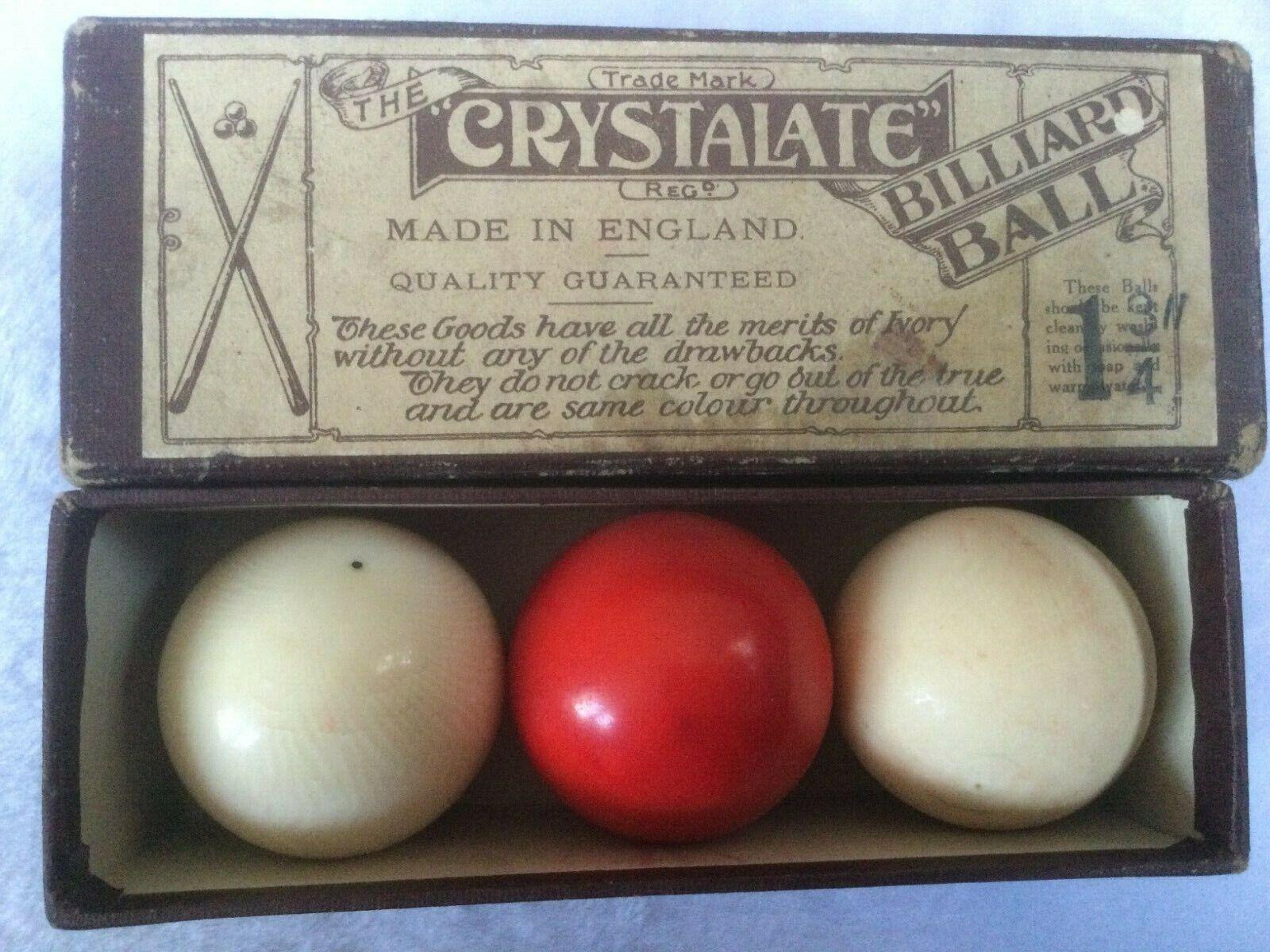 Vintage Crystalate Billiard Balls 1.75