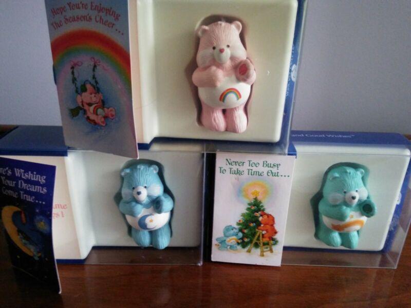 VINTAGE 1983 CareBears American Greetings Bears xmas figurines